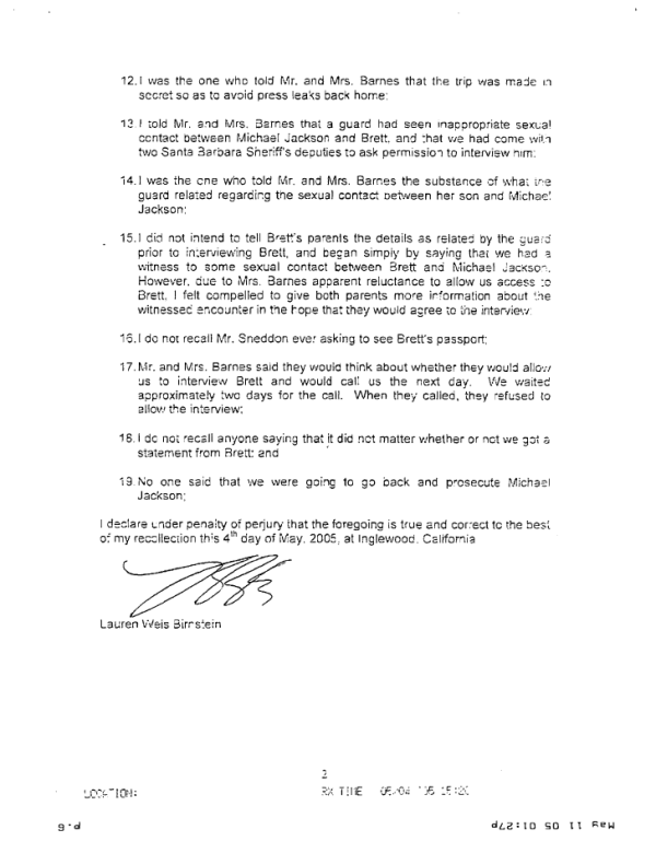 Declaration of Det. Lauren Weis, part 2 of 2