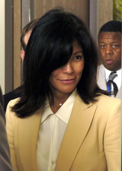 June Chandler entering court