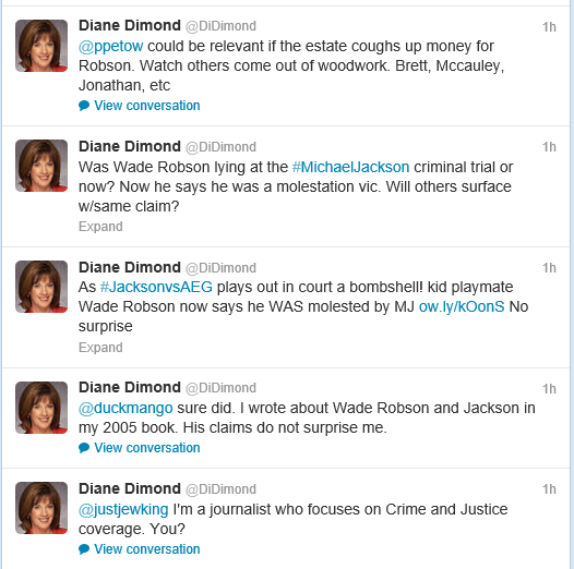 Diane Dimond believes Wade Robson!