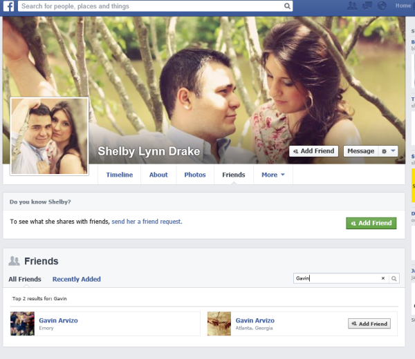 Facebook page of Gavin Arvizo's wife Shelby Lynn Drake