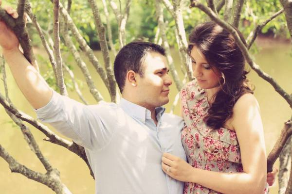 Gavin Arvizo and his wife in a tree