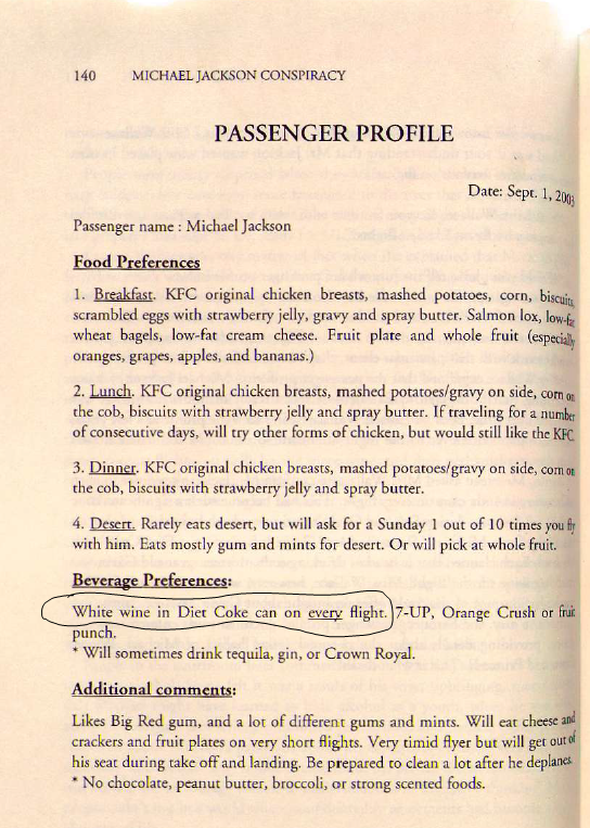 MJ Passenger profile for Xtra Jet flights